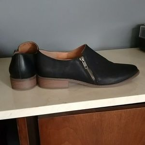 Black zippered shoes from BC Footwear